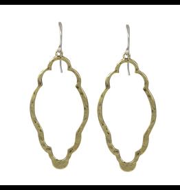 Waxing Poetic® Jewelry Open Up Earrings Clover Brass
