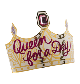 Party Partners Queen For A Day Crowns Set 6pk Paper Foil Adjustable