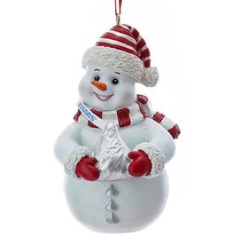 Kurt Adler Hershey Snowman Ornament W Hershey Kiss