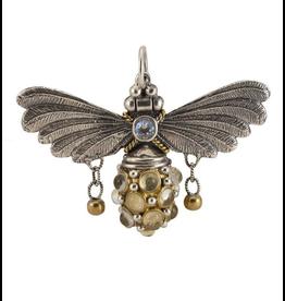 Waxing Poetic® Jewelry FLT4MS Float On Pendant Silver-Brass-Cabachon-Swarovski