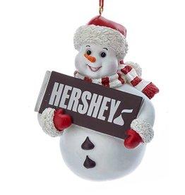 Kurt Adler Hershey Snowman Ornament W Hershey Candy Bar