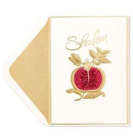 PAPYRUS® Jewish New Year Cards Shalom Gem Poegranate Rosh Hashanah Card