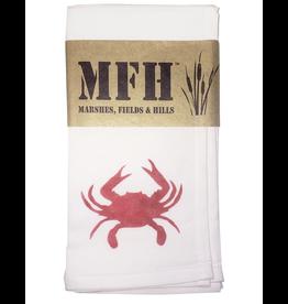 MFH Cotton Cloth Napkin-20x20 w Crab- Candi Red