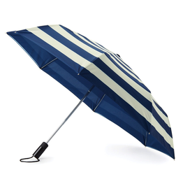 Kate Spade New York Travel Umbrella Blue White Stripe   Kate Spade New York
