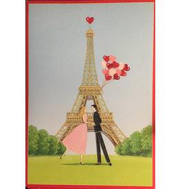 Caspari Valentine's Day Card Being with You is a Great Adventure