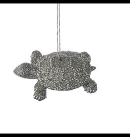 Kurt Adler Sea Turtle Silver with Pearls Ornament C6797