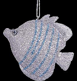 Kurt Adler Tropical Fish Christmas Ornament Silver Blue C7981-D