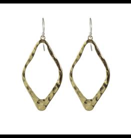 Waxing Poetic® Jewelry Open Up Earrings Diamond Shaped Brass