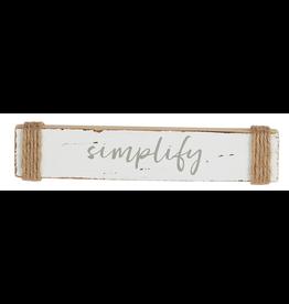 Mud Pie Wood Sea Sentiment 2x10 Stick w Simplify