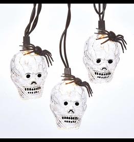 Kurt Adler Halloween Lights Set Skeletons Ghosts w Spider 10 Lights