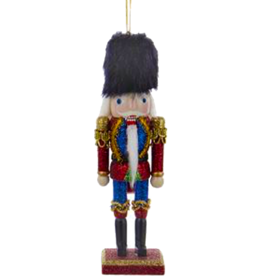 Kurt Adler Christmas Nutcracker Ornament Wood w Glitter Finish 6 inch