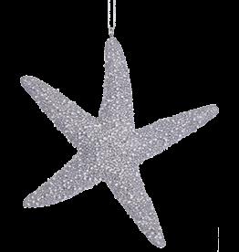 Kurt Adler Silver Starfish Christmas Ornament C7980-A