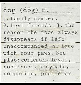 Mud Pie Dog Definition Wood Plaque 8x8 4265227D Mud Pie Gifts
