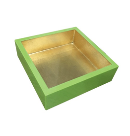 Caspari Sage Green Gold Lacquer Luncheon Napkin Holder