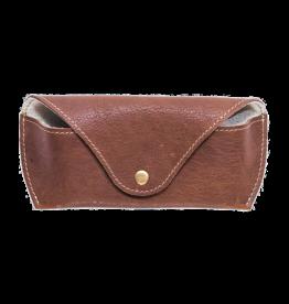 KIKO Leather Leather Sunglass Holder In Brown