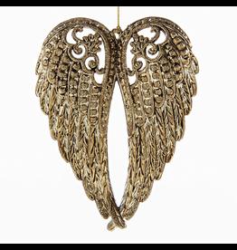 Kurt Adler Angel Wings Gold Electroplate Christmas Ornament 5 Inch