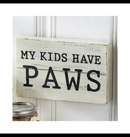 Mud Pie My Kids Have Paws Plaque 5x8 4265227K Mud Pie Pet Gifts