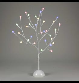 Kurt Adler White Twig Gum-ball Tree 2FT Multi Color LED Twinkle Lights