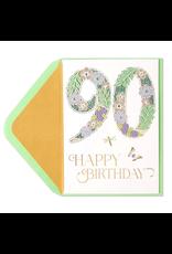 PAPYRUS® Birthday Card 90th Birthday Laser Cut