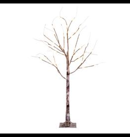 Darice Birch Tree Natural w WW LED Lights 48 inch Twig Branch Tree