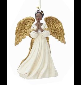 Kurt Adler Black American Angel Ornament -B Praying