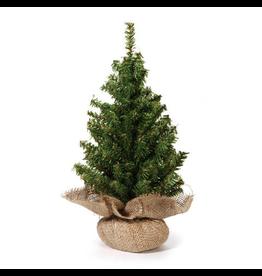 Darice Mini Christmas Tree w Burlap Base 18 inch 124 Tips