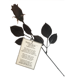 DM Merchandising Over the Hill Gifts Black Rose w Remember When Poem