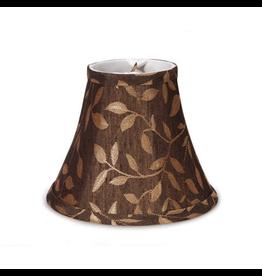 Darice Lamp Shade Clip On Light Bulb 5 inch Black w Gold Leaves