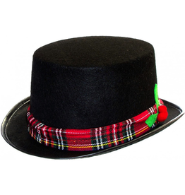 Darice Christmas Black Felt Top Hat Snowman Hat Carolers Costume