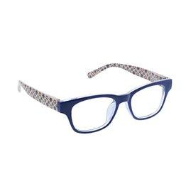 Peepers Reading Glasses Apres Ski Blue Light Blue Patchwork +2.50