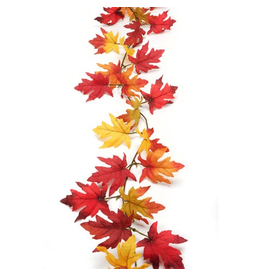 Darice Fall Leaf Garland Maple Leaves 6 Feet Fall Floral Decor