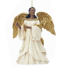 Kurt Adler Black American Black Angel Ornament -A