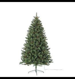Kurt Adler Christmas Tree Pre-Lit Mountain Pine Tree 7.5FT w Clear Lights