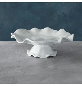 Beatriz Ball VIDA Havana Pedestal Cake Plate To Dip Set White Melamine