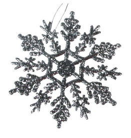 Darice Glittered Snowflakes Ornaments 4 inch 10-Pack Silver