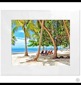 Maureen Terrien Photography Art Print Moorings w Beach Chairs 8x10 - 11x14 Matted