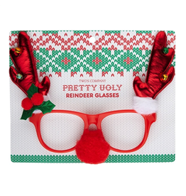 Twos Company Pretty Ugly Reindeer Glasses on Gift Card 80916