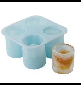 Twos Company Frozen Ice Shots Freezer Mold Makes 4 Ice Shot Glasses