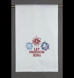 Peking Handicraft Patriotic Kitchen Towel w Let Freedom Ring 16x25