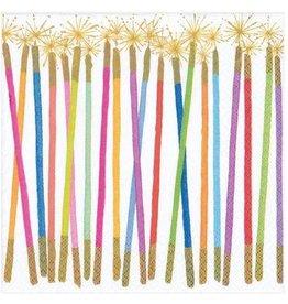 Caspari Paper Cocktail Napkins 20pk Birthday Candles Sparklers