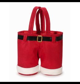 Darice Christmas Santa Pants Treat Goodie Bag 9 inch