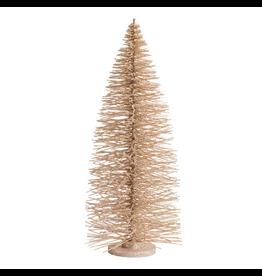 Darice Glittered Bottle Brush Christmas Tree 28 inch Champagne Gold
