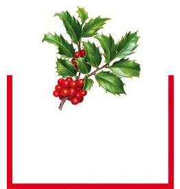 Caspari Table Place Cards Die Cut 8pk Christmas Trimmings