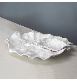 Beatriz Ball VIDA Lettuce Chip And Dip Set Detachable White Melamine