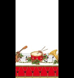 Caspari Christmas Paper Guest Towel Napkins 15pk Musical Concert
