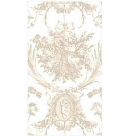 Caspari Paper Linen Airlaid Guest Towel Napkins 12ct Romantic Toile Natural