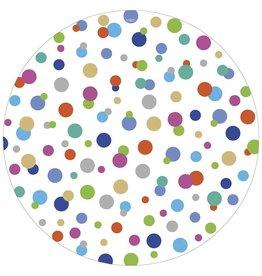 Caspari Round Paper Dinner Plates 8pk Confetti Brights