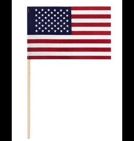 Valley Forge Hand Held U.S. American Flag 4x6 on 1ft Wood Dowel