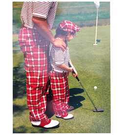 Avanti Fathers Day Card Dad and Daughter Golfing