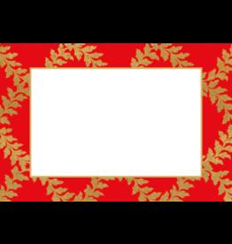 Caspari Table Place Cards 10pk Acanthus Trellis Red Gold